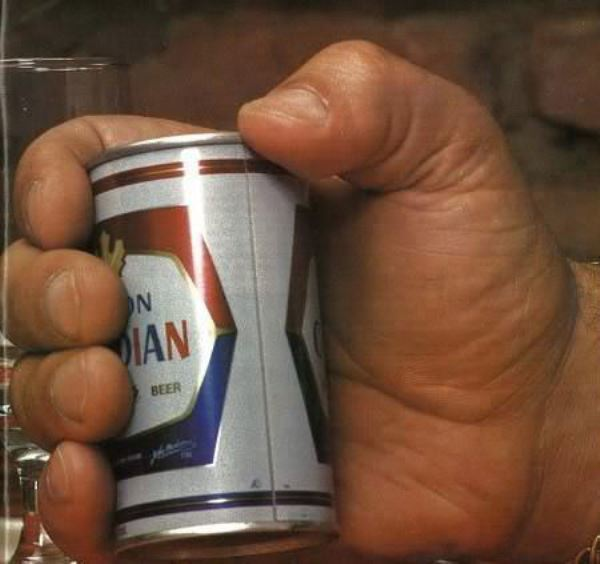 Holding A Beer Can