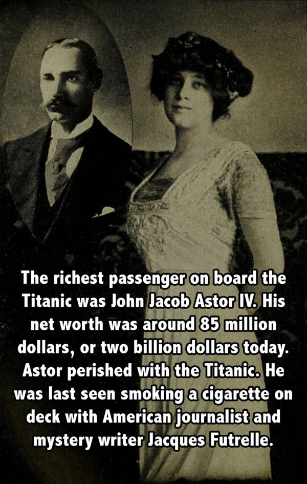 John Astor Wife Titanic