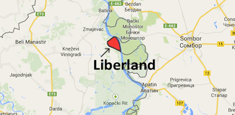 Liberland Country Map Zoomed