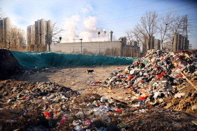 Littering In China Landfill