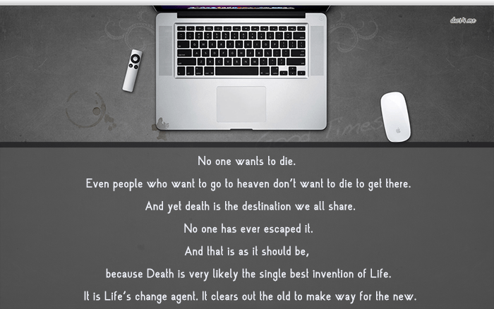 No One Wants To Die