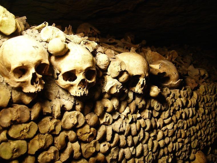 Paris Catacombs Skulls Mountain