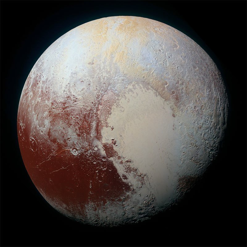 Pluto Images Color Variations