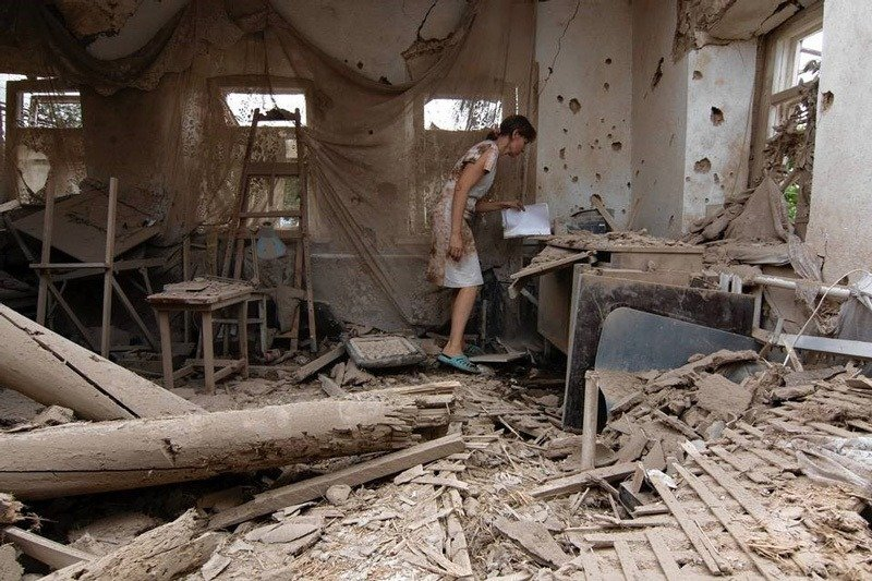 Ukraine Conflict Shelling School