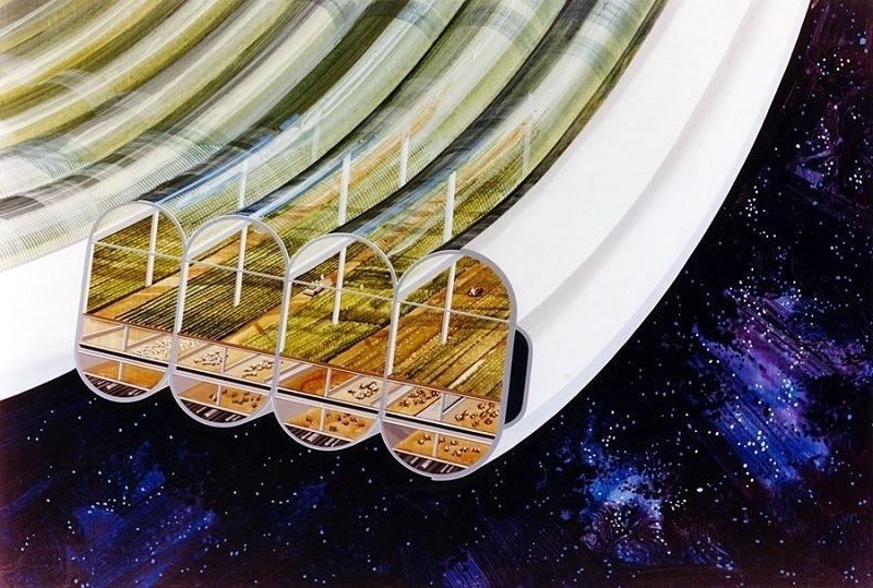 Space Colonies Bernal Sphere Agriculture