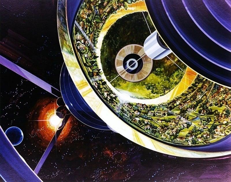 Space Colonies Bernal Sphere Cutaway