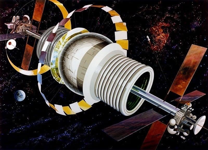 Space Colonies Bernal Sphere Exterior