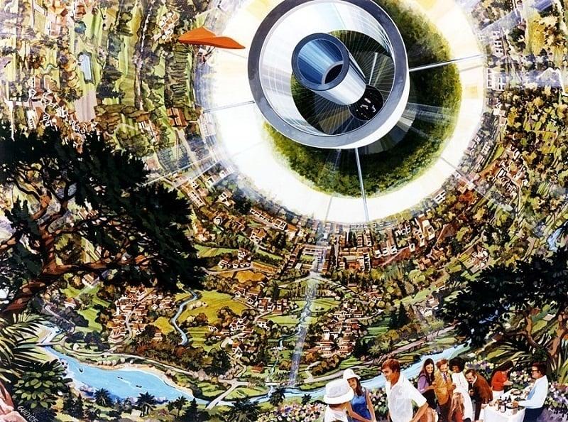 Space Colonies Bernal Sphere Interior