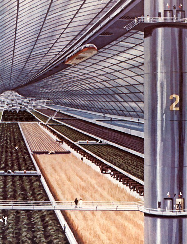 Space Colonies Stanford Torus Agriculture