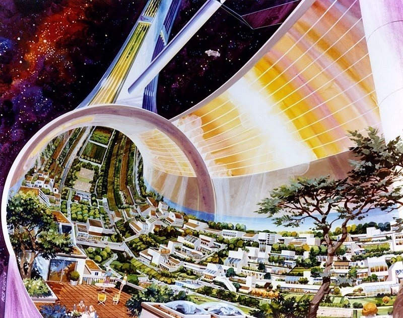 Space Colonies Torus Cutaway