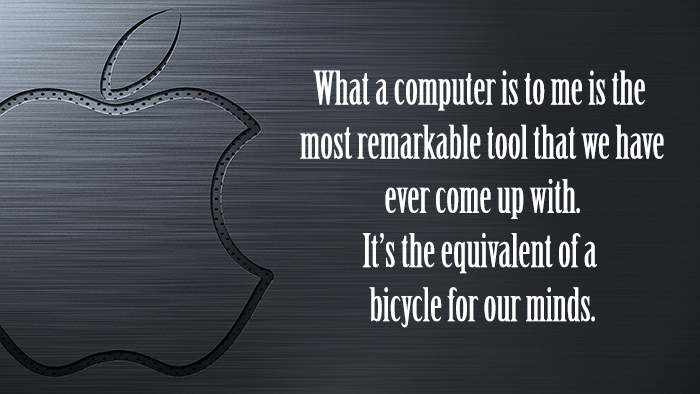 Steve Jobs On The Computer