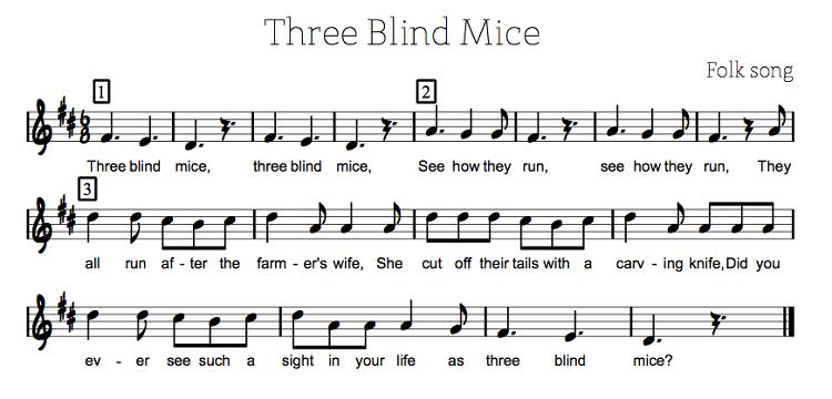 Three Blind Mice Sheet Music