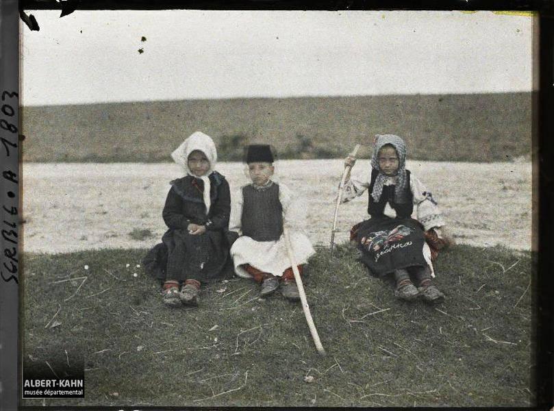 Three Children Seated