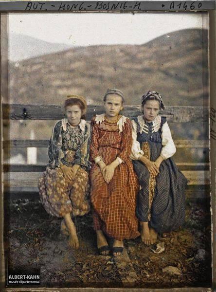 Three Seated Girls