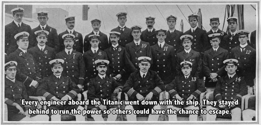 Titanic Engineers Words