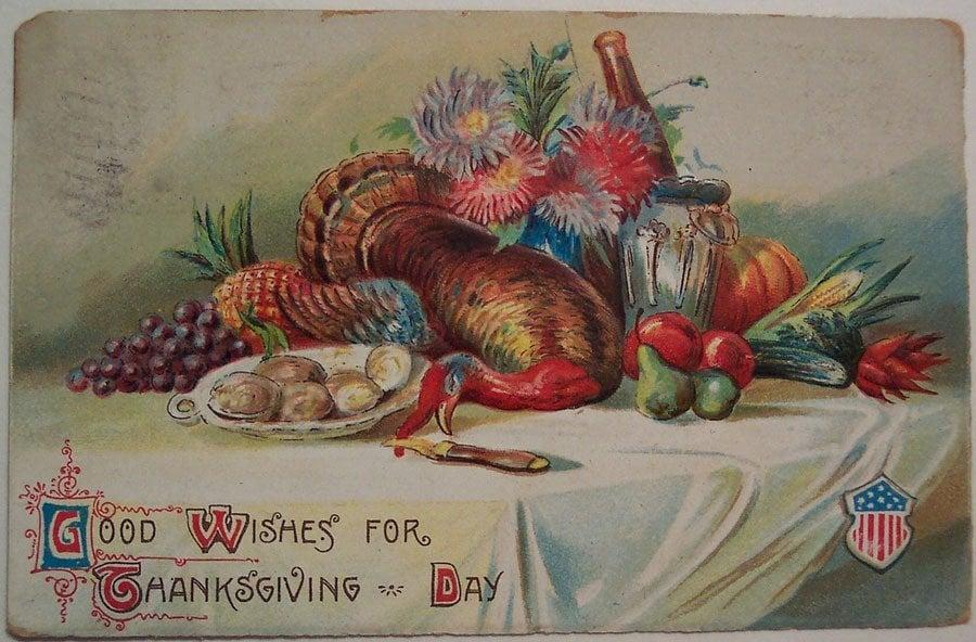 Weird Thanksgiving Photos Dead Table