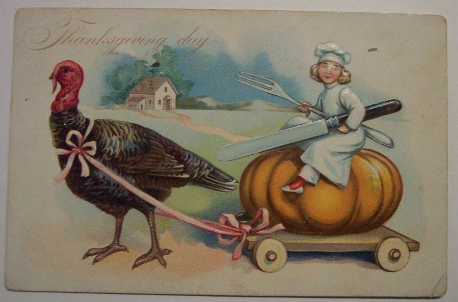 Weird Thanksgiving Photos Pumpkin Rider