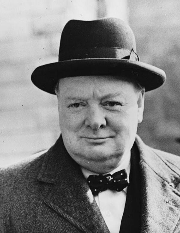 Winston Churchill Bowler Bowtie