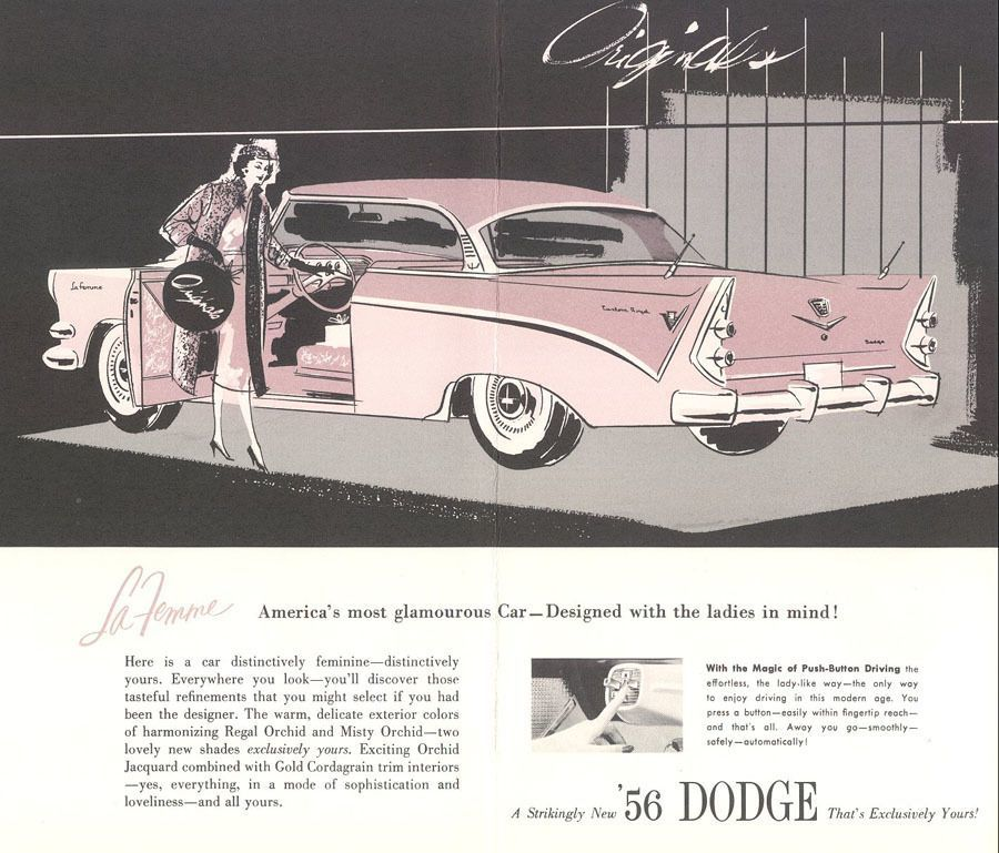 Advertisement For Woman's Car
