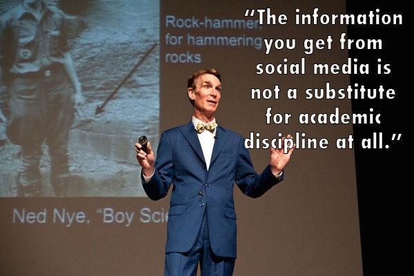 Bill Nye Social Media