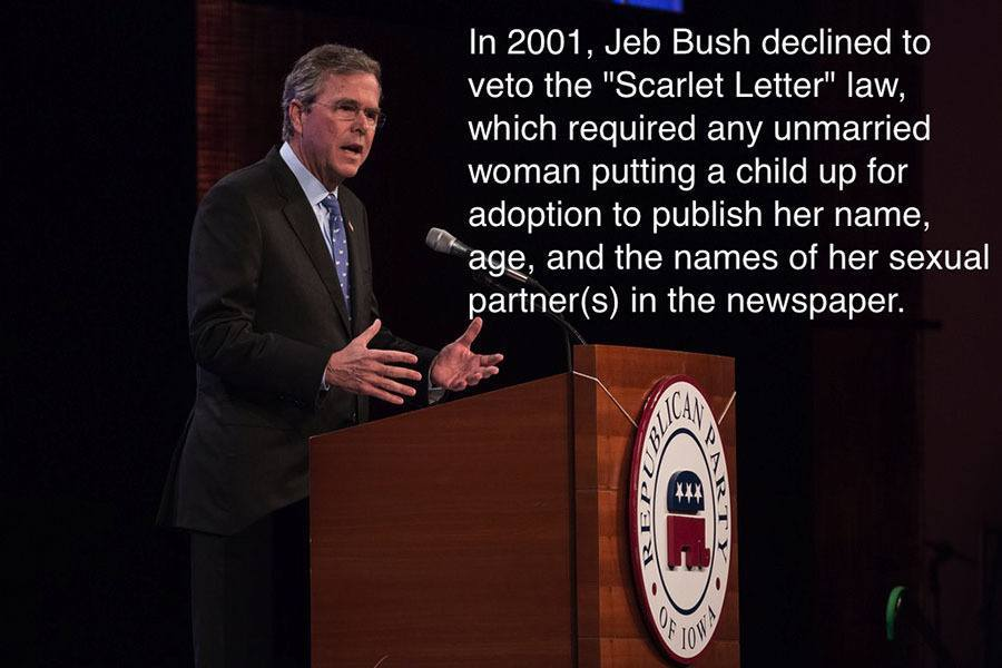 Jeb Bush Scarlet Letter Law