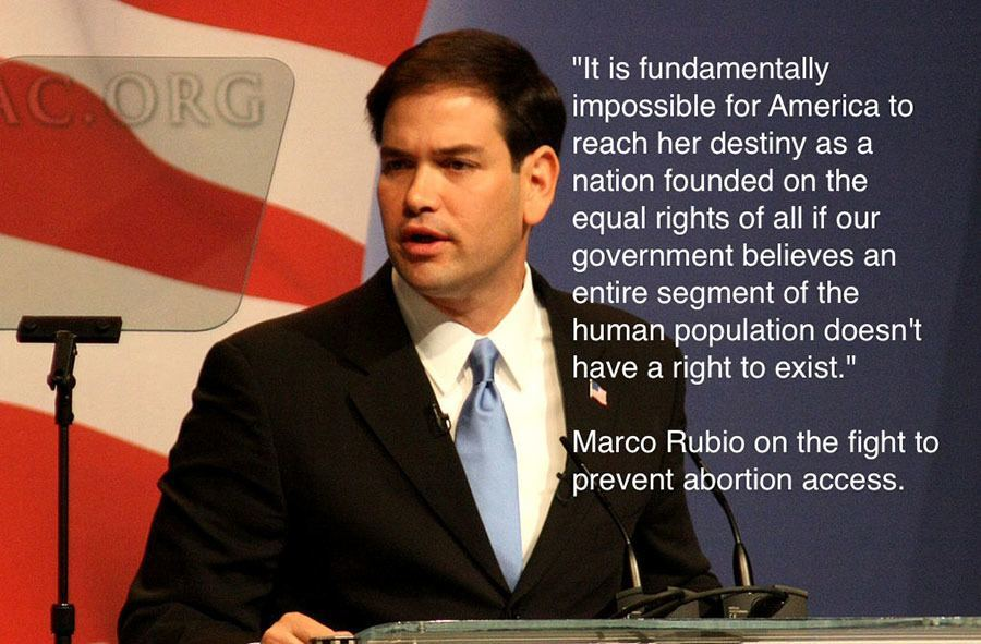 Marco Rubio Abortion Rights