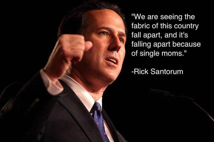 Rich Santorum Single Moms