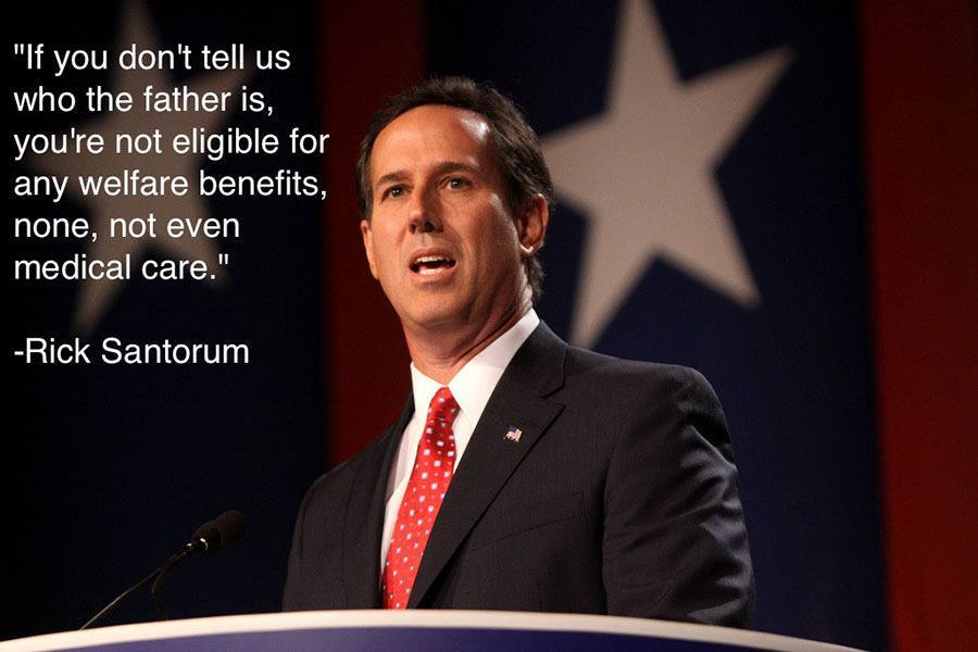 Rick Santorum Welfare