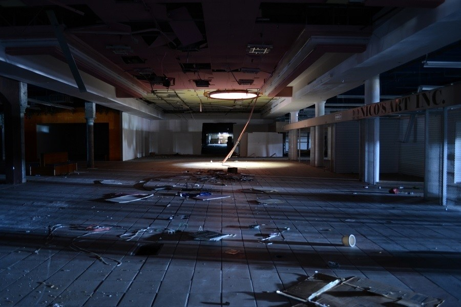 Abandoned Mall Dark Mess