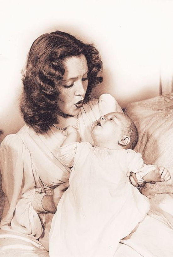 Barbara Daly Baekeland With Baby
