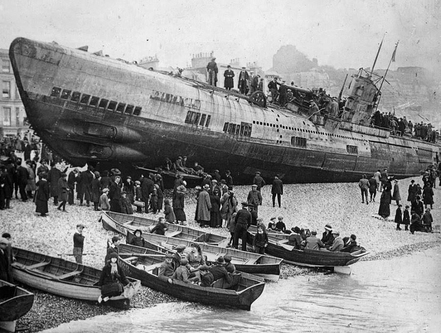Beached German Submarine