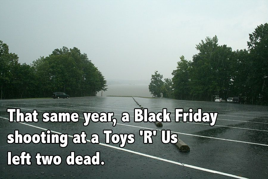 Black Friday Facts Parking Lot