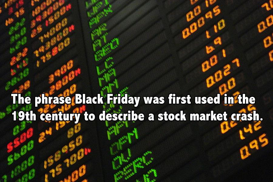 Black Friday Facts Stocks