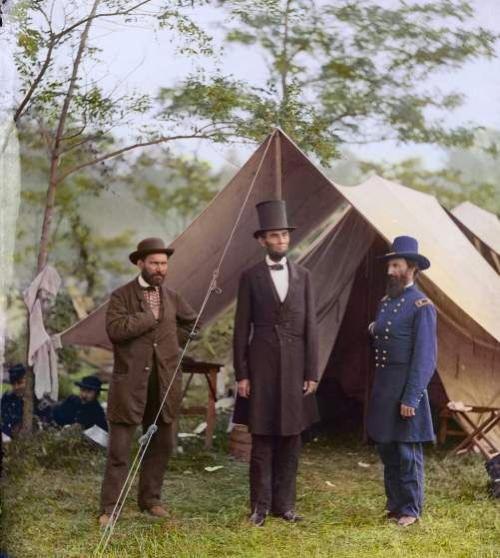 Civil War Colorized Lincoln