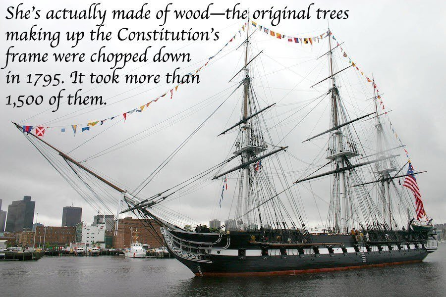 Constitution In Harbor Fact