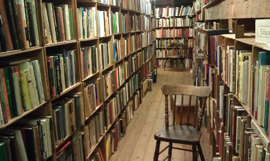 Coolest Bookstores Book Barn Stacks