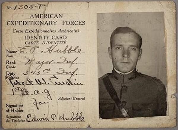 Edwin Hubble Identity Card