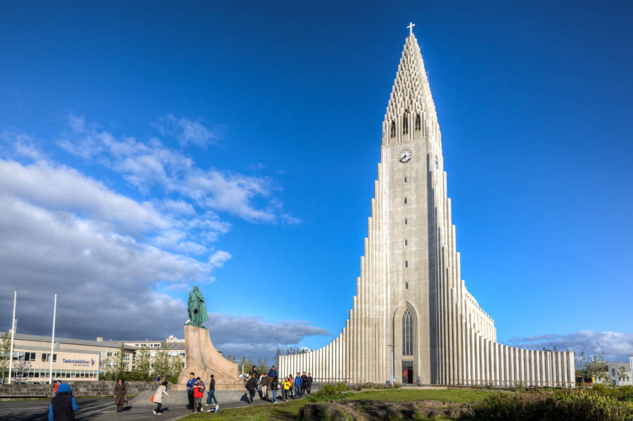 Hallgrimskirkja Iceland Church Daylight