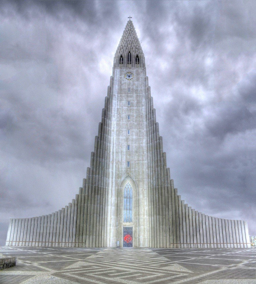 Hallgrimskirkja Iceland Cloudy Church