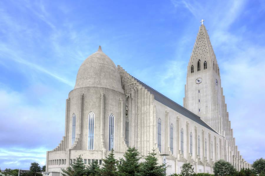 Hallgrimskirkja Iceland Reverse Angle