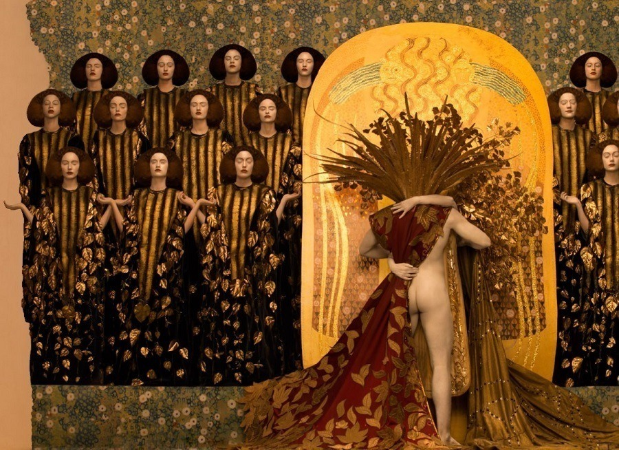 Klimt Recreation Beethoven Frieze