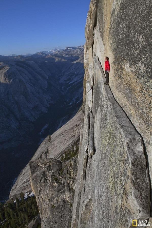 Man Standing Cliff Edge
