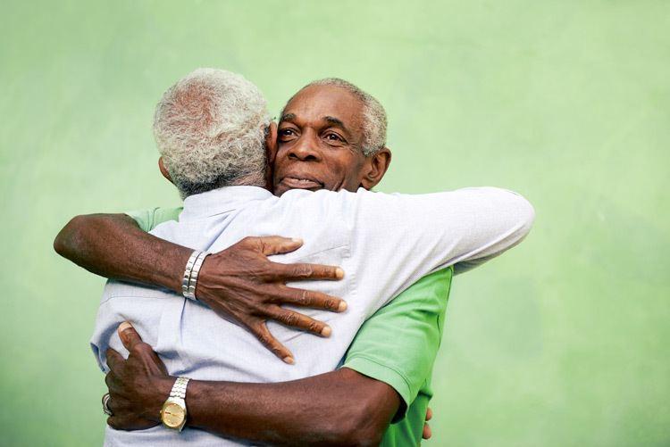 Men Hugging Why We Kiss