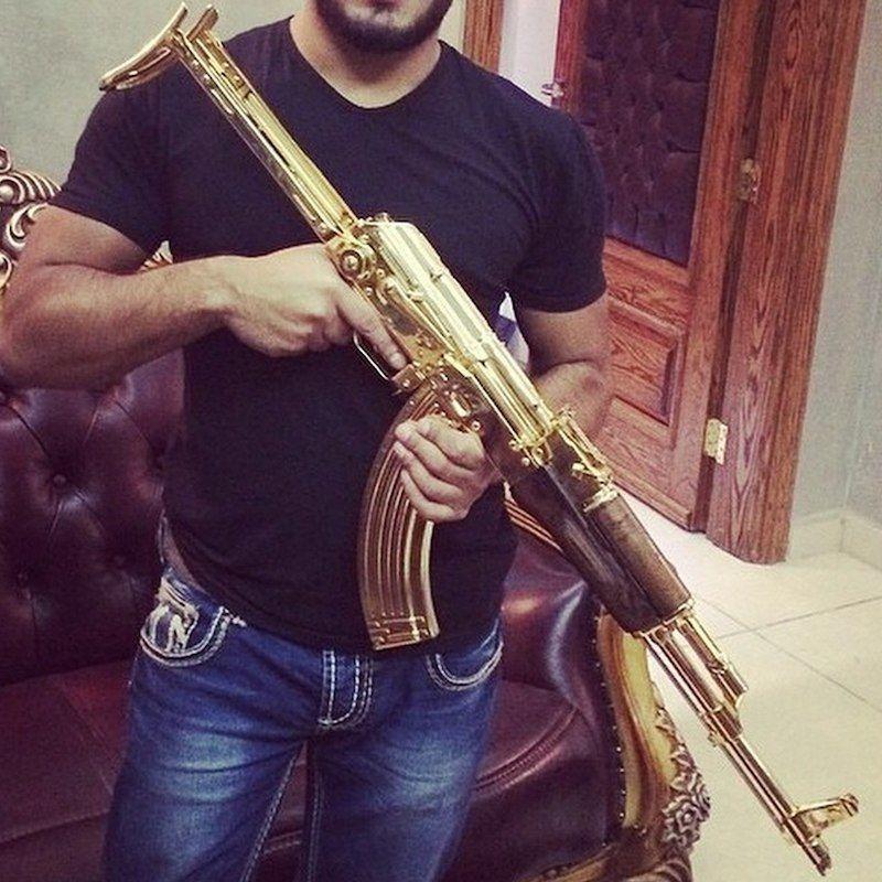 Narco Instagram Gold Ak 47