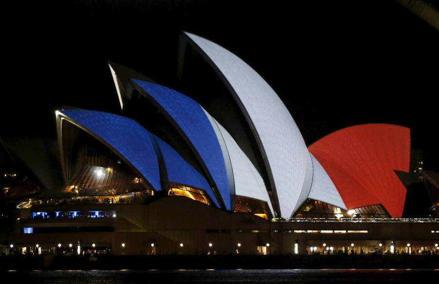 Sydney Opera House Paris Lights