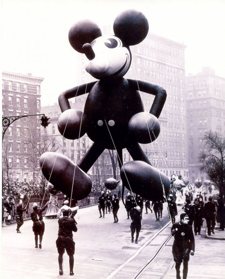 Vintage Macys Thanksgiving Day Parade Photos Mickey Mouse