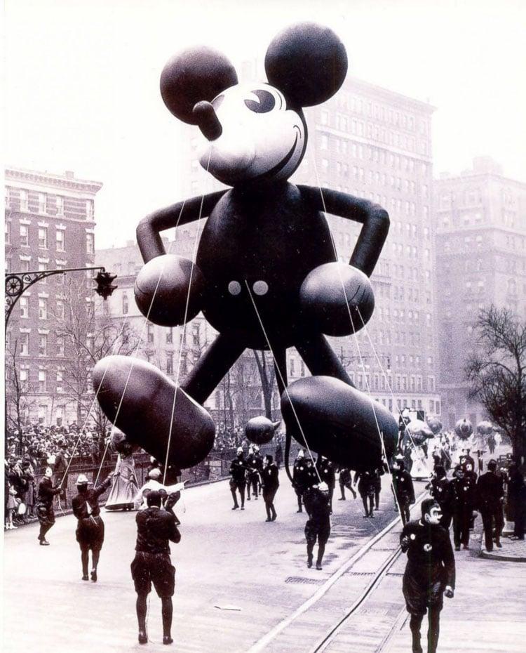 Vintage Macys Thanksgiving Day Parade Photos Mickey Mouse