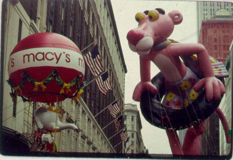 Vintage Macys Thanksgiving Day Parade Photos Pink Panther