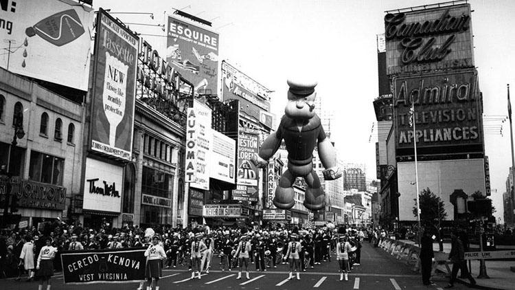 Vintage Macys Thanksgiving Day Parade Photos Popeye