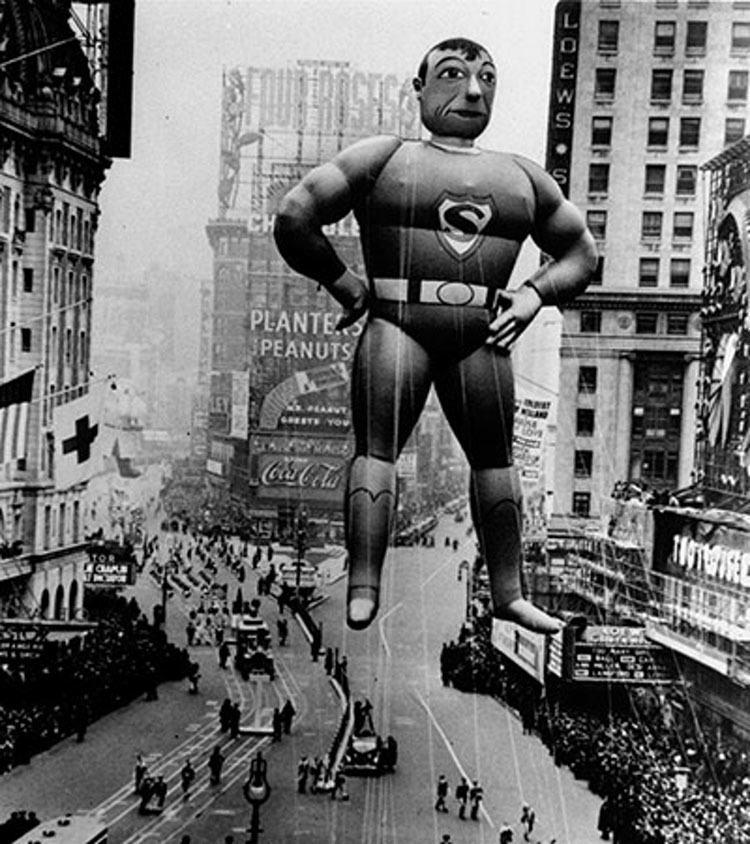 Vintage Macys Thanksgiving Day Parade Photos Superman